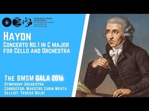 J. Haydn - Concerto No.1 in C major for Cello and Orchestra - Zubin Mehta - Cello-Teresa Beldi