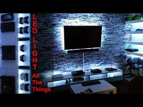 Project Game Room - Vlog #04 | DIY LED Light All the Things
