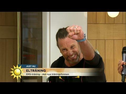 Här testar Peter Jihde EMS-träning - Nyhetsmorgon (TV4)