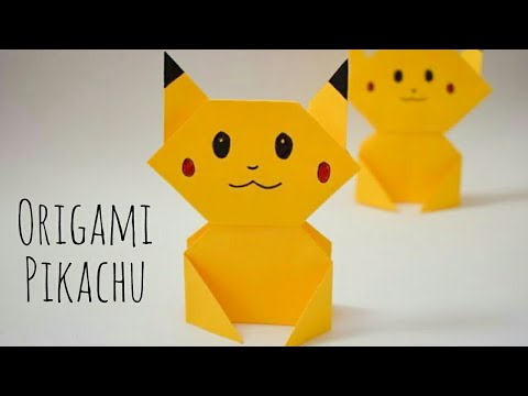 Easy Origami Pikachu Tutorial | DIY Pokemon Crafts for Kids| Fun Paper Craft ideas for Kids #pikachu