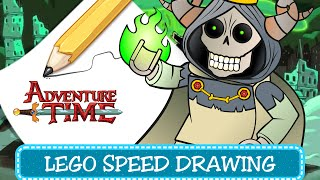 How to draw LEGO Adventure Time - Litch (Speed Drawing Coloring Pages for kids)
