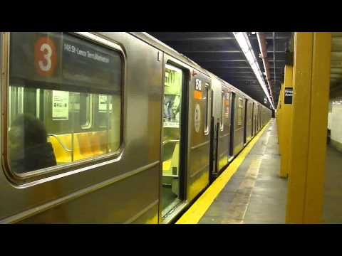IRT Eastern Parkway Line: R62 3 Train at Kingston Ave (Manhattan Bound)