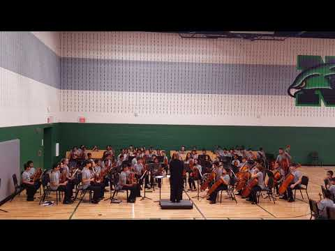 Halloween themed music performed by Nelson middle school orchesrta.