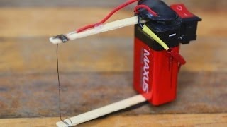 How to make foam cutter and electric match lighter 2 in 1