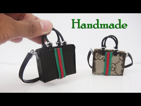 DIY Miniature Gucci Bags for Barbie doll - How to make Unique Bag