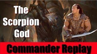 commander replay the scorpion god