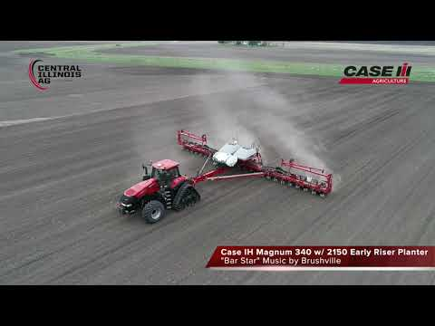 2018 Corn Planting in IL, Case IH Magnum RowTrac w/ Early Riser Planter