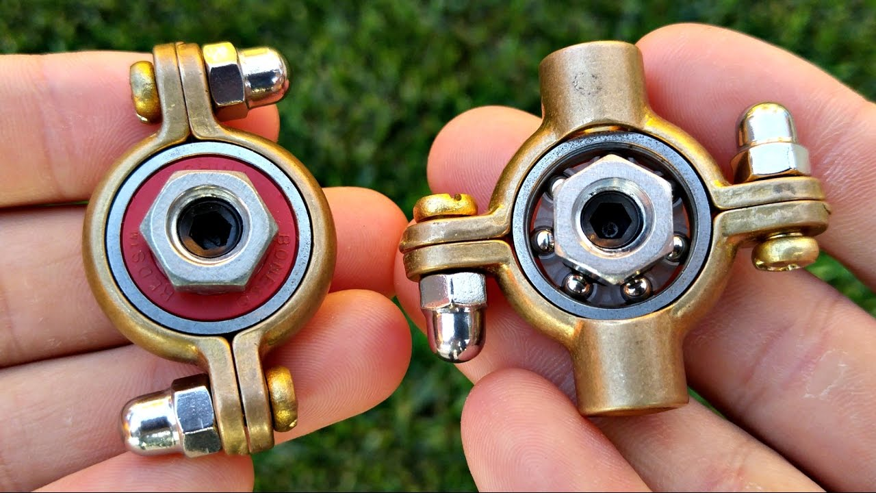 How To Make A Hand Spinner Fidget Toy (Easy DIY Munsen ...