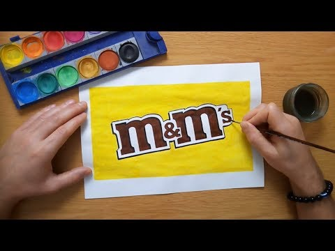 How to draw the m&m's logo