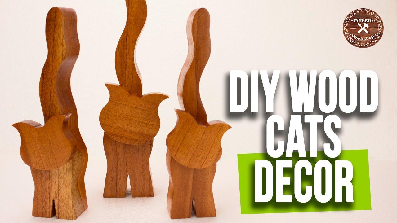 Wood DIY Ideas | Red Cedar Cats to Decor | Wood Animals ...