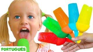Picolés - canção para crianças   Canções infantis   Katya e Dima