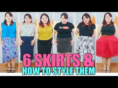 Plus Size Fashion - 6 Skirts & How To Style Them
