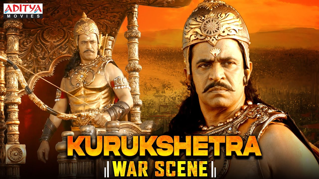 Karna (Arjun Sarja) War Scene| KURUKSHETRA Hindi Dubbed Movie | Arjuna (Sonu Sood)