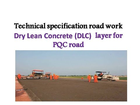 Dry Lean Concrete Dlc Layer For Pqc Road Youtube
