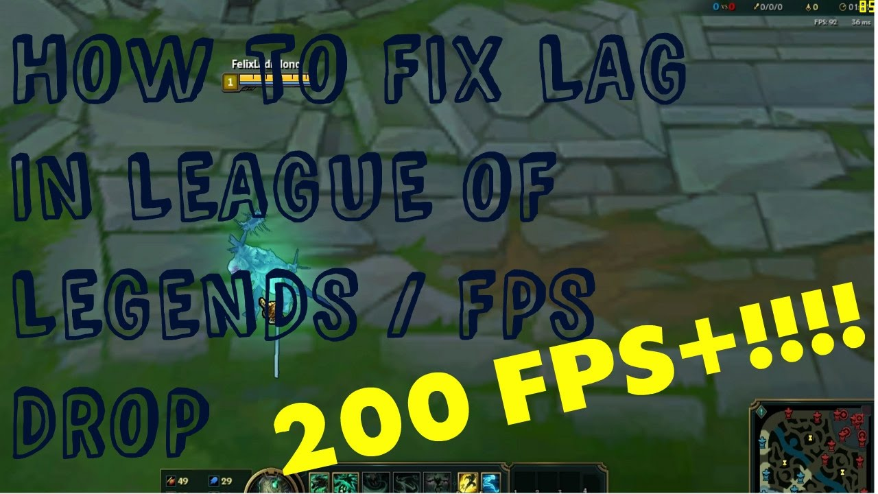 How to fix lag in League of legends(PH) | Increase FPS !!!!