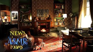 Sherlock Inspired Ambience - 221B Baker St. ASMR | Violin, Fire, London White Noise