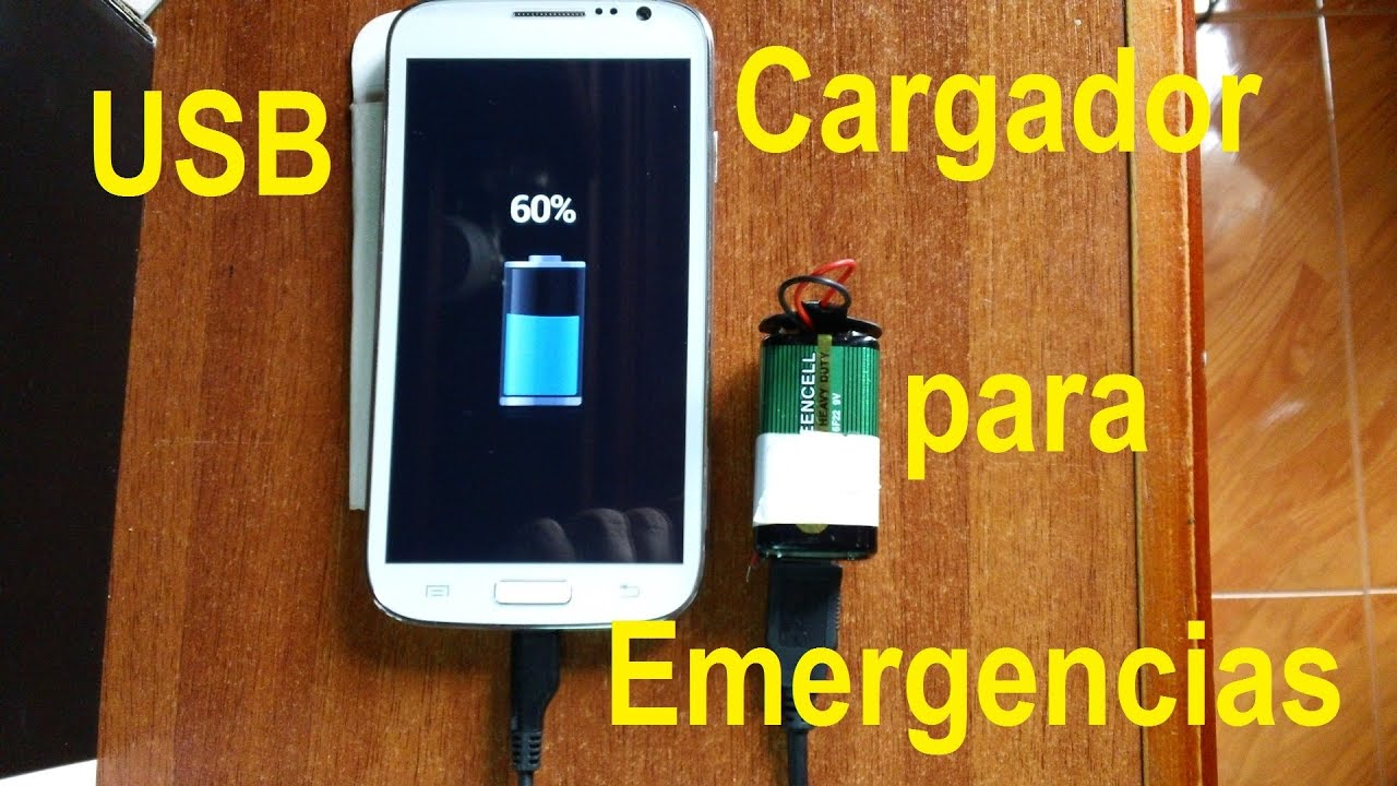 Cargador Usb De Emergencia Para El Tel 233 Fono Celular