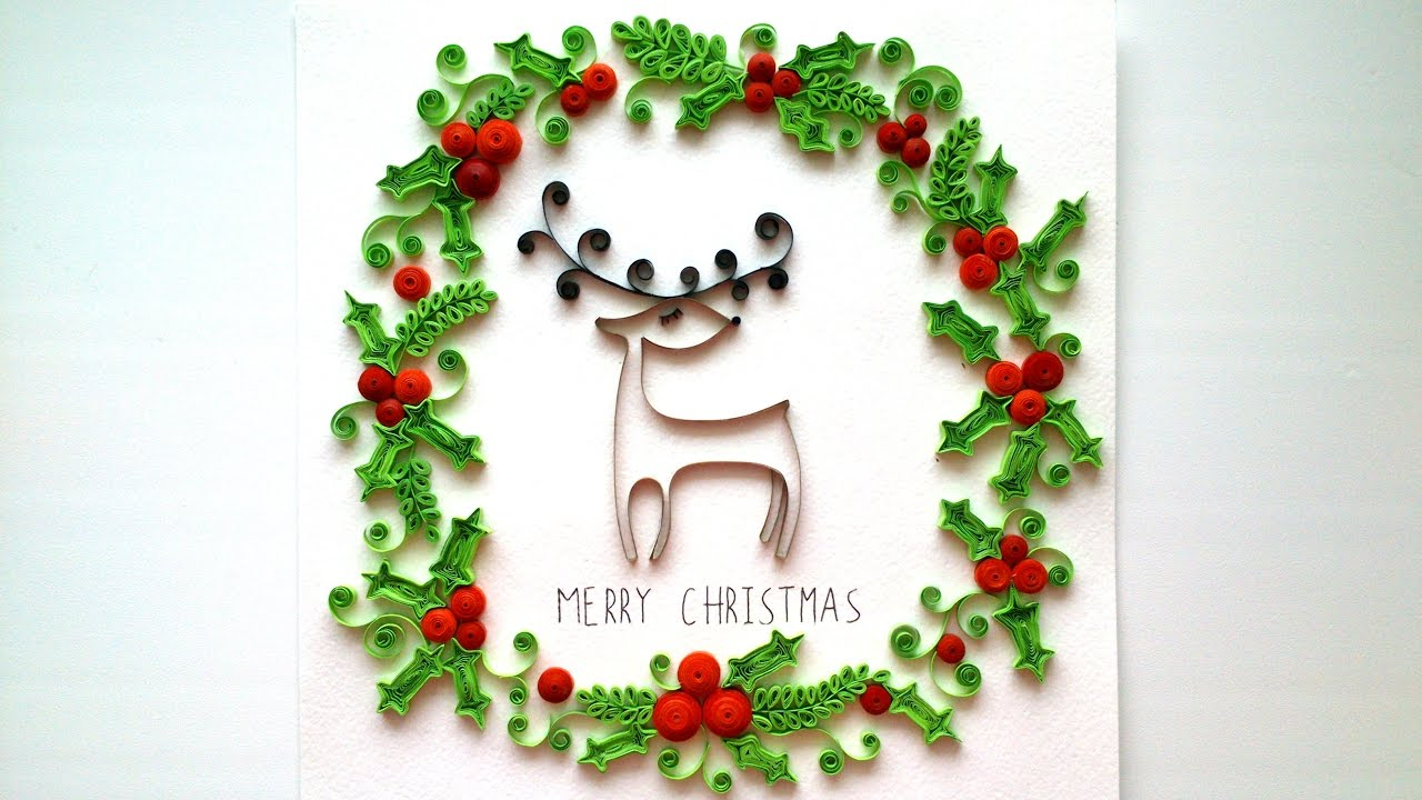 DIY Gift Ideas for Christmas. Quilling Christmas Room Decor. - YouTube
