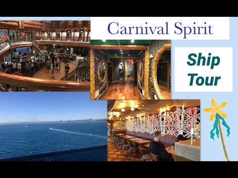 Carnival Spirit Ship Tour - August 2017
