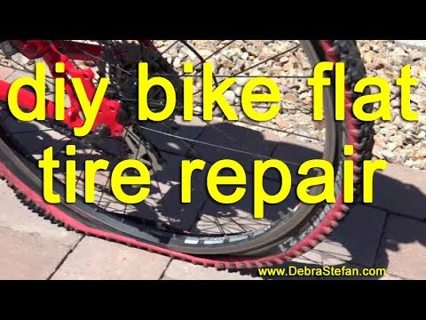 DIY Flat Bike Tire Repair | Debra Stefan Fitness Weight Loss Camps
