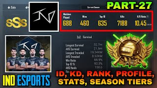 Download lagu TEAM IND ESPORTS (INSEDEOUS) | SNAX, SLAYER, KRATOS, LUCIFER & TRANCE....PUBG ID/ KD/ STATS REVEAL🔥