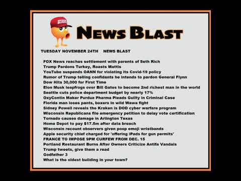 Tuesday, November 24, 2020 News Blast. #NBR #NewsBlastReadings #Enoch