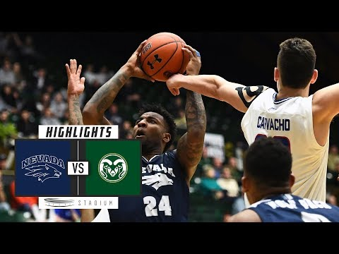 No. 6 Nevada vs. Colorado State Basketball Highlights (2018-