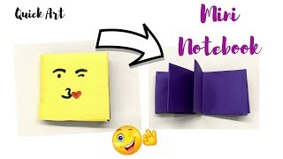 DIY | Handmade mini notebooks one sheet of paper - DIY Back To School
