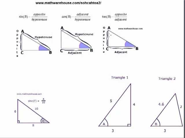 Printables Tangent Ratio Worksheet sine cosine and tangent to find side length of a right triangle