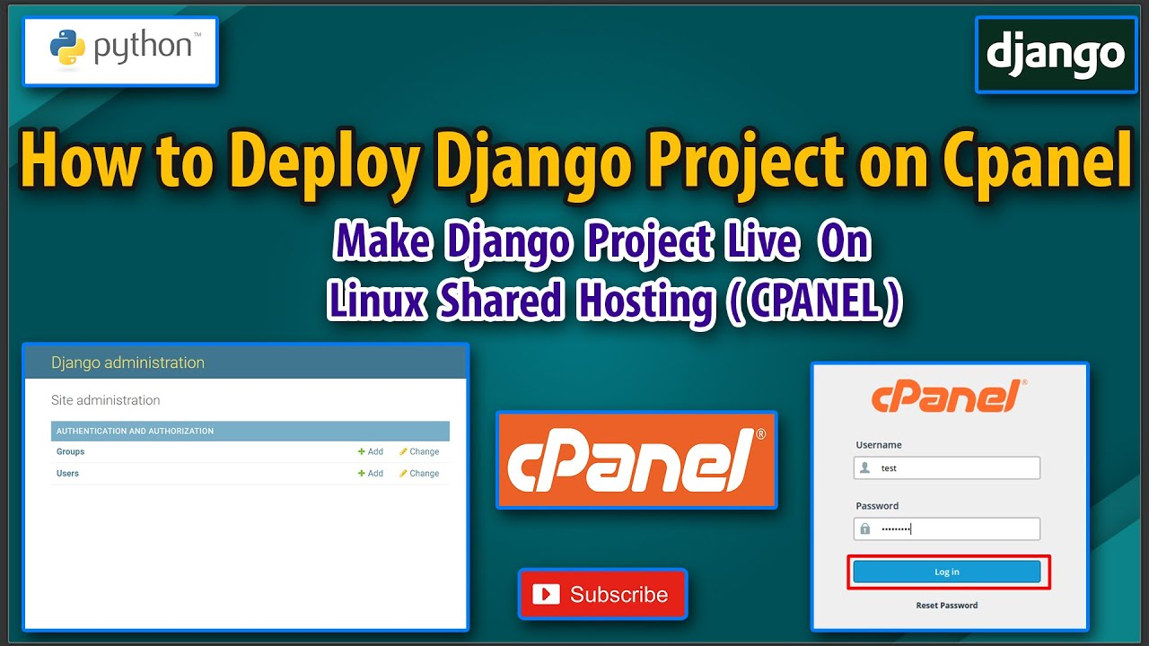Deploy Django App on Cpanel ( Linux Shared Hosting )   Making Django Project Live on Shared Hosting