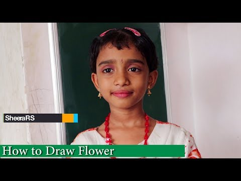 HOW TO DRAW A FLOWER | பூ வரைவது எப்படி ? by Baby Sheera | Flower Drawing