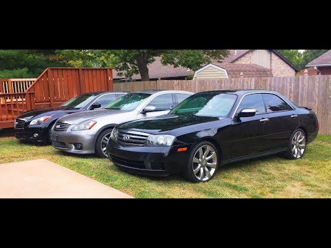 Infiniti M series - 3 generations of sleepers. M45 to M56