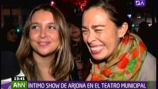 ARJONA INTIMO Y CERCANO CONCIERTO EN TEATRO MUNICIPAL EN CHILE MEGANOTICIAS TARDE 10 05 2014