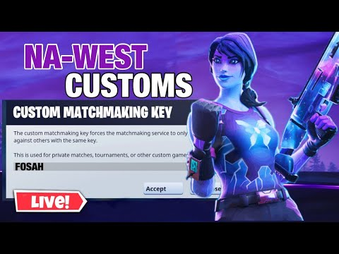 🔴 ( NA-WEST) CUSTOM MATCHMAKING FORTNITE! SOLOS , DUOS! FORTNITE LIVE WEST! PS4 , SWITCH , MOBILE