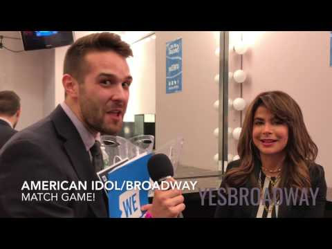 Paula Abdul plays Broadway/American Idol Match Game