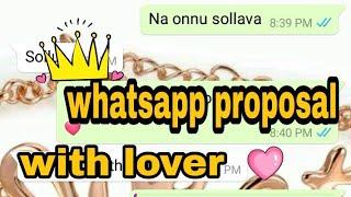 Tamil love Whatsapp chatting proposal boy to girl tamil