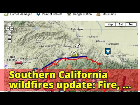 Southern California wildfires update: Fire, evacuation maps and latest info