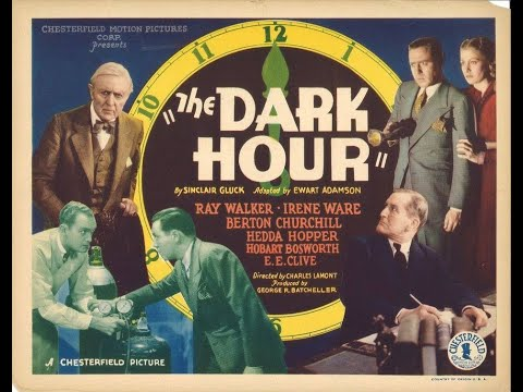 """The Dark Hour"" (1936) Ray Walker, Irene Ware, Hobart Bosworth, Hedda Hopper"
