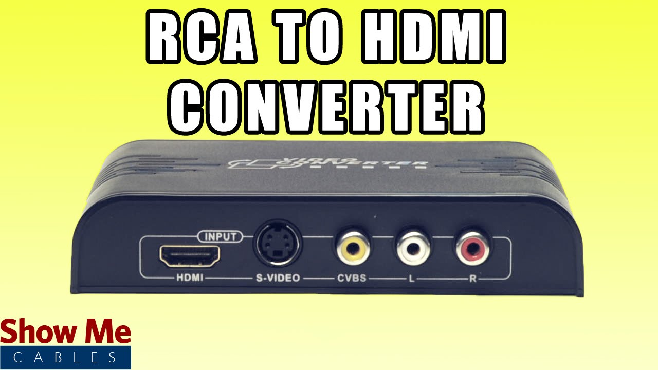Rca And S Video To Hdmi Converter Save Older Video