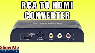 RCA and S-Video to HDMI Converter - Save Older Video Equipment by Converting to HDMI