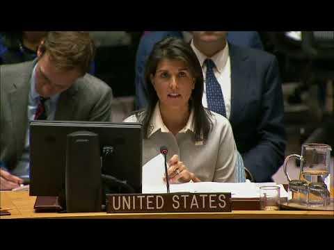 Ambassador Haley's Remarks at UN Security Council Meeting on Jerusalem