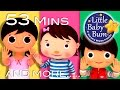 Ten Little Fingers | Plus Lots More Nursery Rhymes | 53 Minutes Compilation From Littlebabybum! video