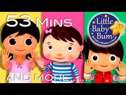 Ten Little Fingers  Plus Lots More Nursery Rhymes  53 Minutes Compilation from LittleBaBum!