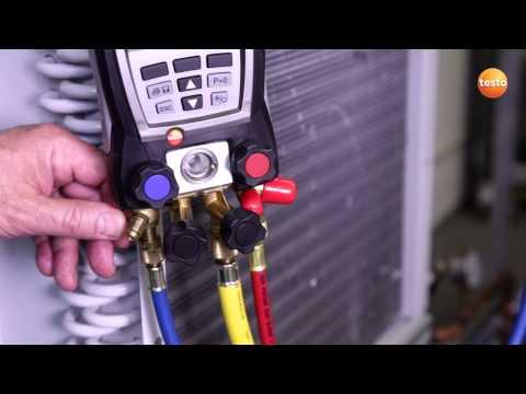 Evakuierung einer Kälteanlage mit dem Vakuum-Messgerät testo 552 | Be sure. Testo