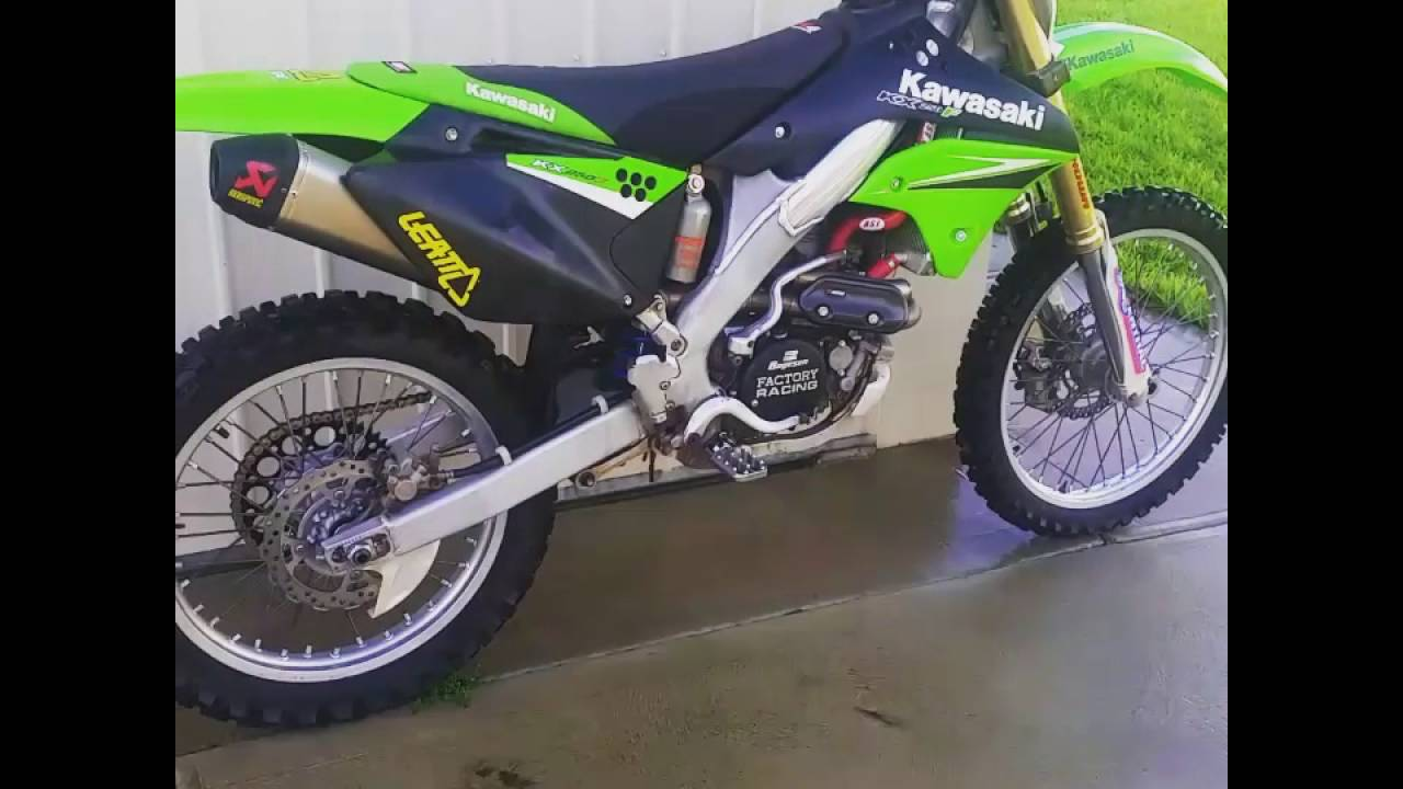 2006 KX250F just rebuilt top end and first run - YouTube
