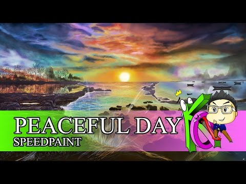 Digital painting #11 – Peaceful Day
