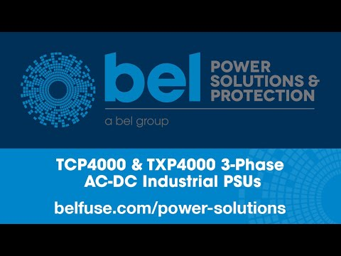 Bel Power Solutions TCP4000 & TXP4000 3-Phase AC-DC Industrial PSUs
