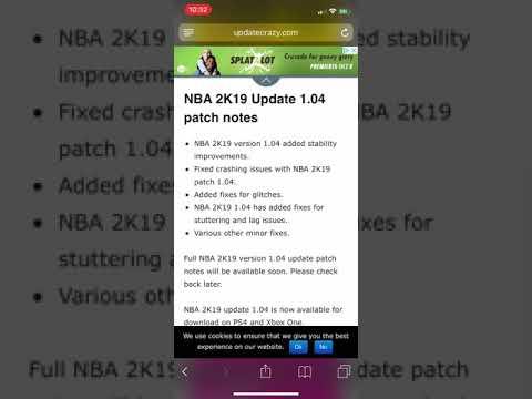 patch notes 2k19 1.04