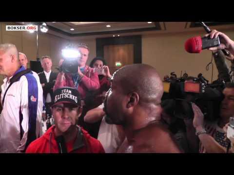 Shannon Briggs disrupts Klitschko vs Leapai press conference (full version)