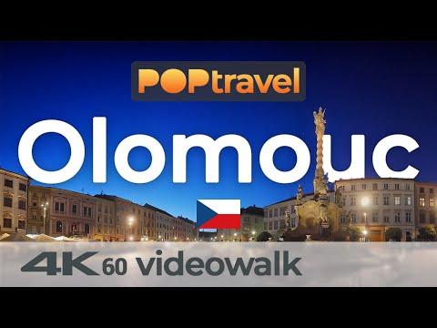 Walking in OLOMOUC / Czech Republic 🇨🇿- Nightwalk in the Old Town - 4K 60fps (UHD)